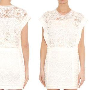 IRO Floa White Lace Tube Dress